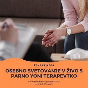 osebno svetovanje v živo s parno yoni terapevtko